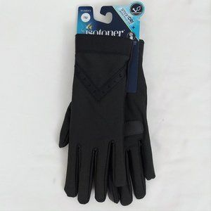 Isotoner SmartDri Gloves Black Touch Screen OS
